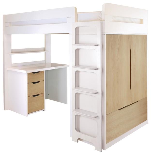 Farringdon High Sleeper With Desk Modern Kids Beds