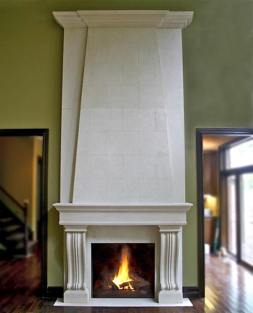 Roman, Lightweight Concrete Mantel traditional-fireplace-mantels