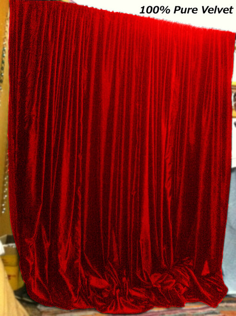 Ruby Red Color Royal Pure Velvet Curtain Panel by Lavishmart ...