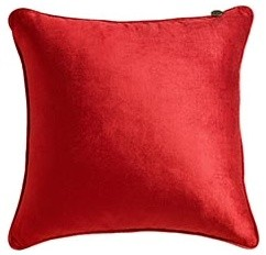 Red Velvet Pillow contemporary pillows