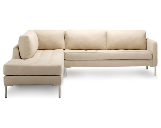 Blu Dot - Blu Dot Paramount Left Sectional Sofa, Stone - As comfortable as your favorite jeans. As versatile as a little black dress. This classic lounge can go anywhere in style but don't be surprised if it steals the limelight in its own quiet way. Available in ash, ceramic, graphite, lead, oatmeal, pebble, smoke or stone.
