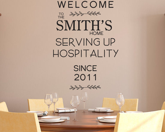 Wall Lettering Designs - Customized design. Available in three sizes.