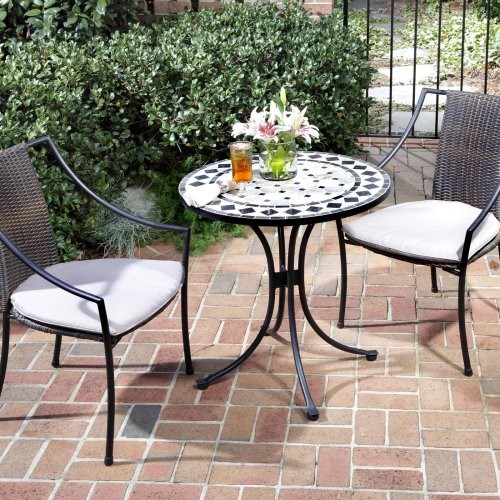 Marble Mosaic Bistro Set Contemporary Patio Furniture And Outdoor Furnitu
