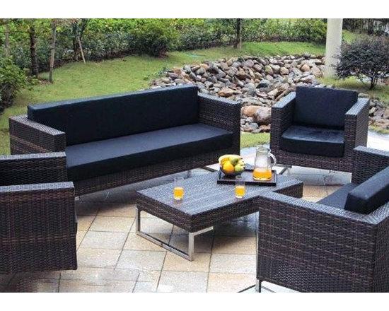 Magnolia 5-Pieced Patio Sofa Set - Outdoor furniture - Patio Furniture - Magnolia 5-Pieced Patio Sofa Set - Outdoor furniture - Patio Furniture