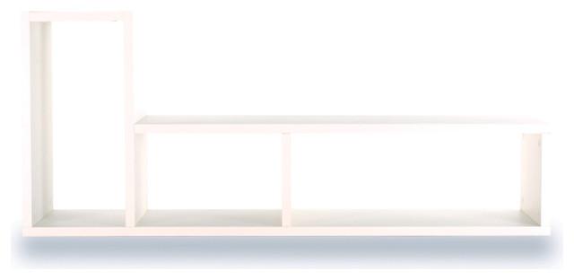 Domino Shelving Unit, Pure White contemporary-bookcases