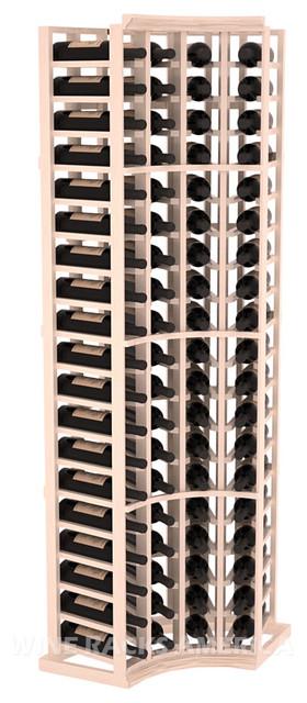 True Radius Corner Cellar Rack in Pine with White Wash Stain + Satin Finish traditional-wine-racks