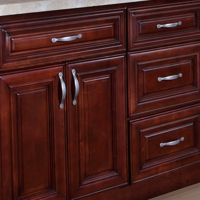 B Jorgsen Co St James Mahogany Kitchen Cabinets Contemporary Kitchen Cabinetry Detroit