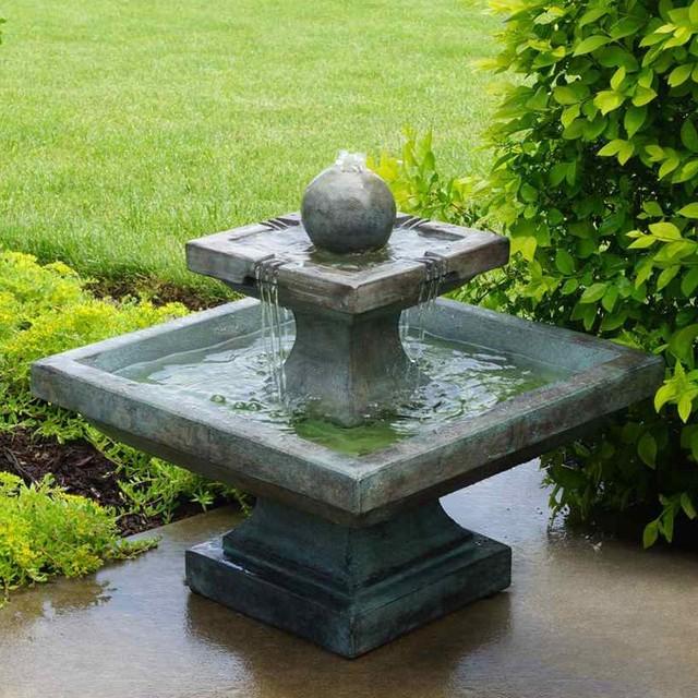 Landscape Lighting Northbrook: Henri Studio Equinox Low Outdoor Floor Fountain