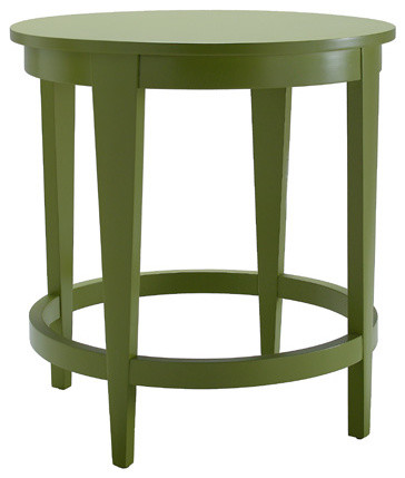 Metro Round Side Table traditional-side-tables-and-accent-tables