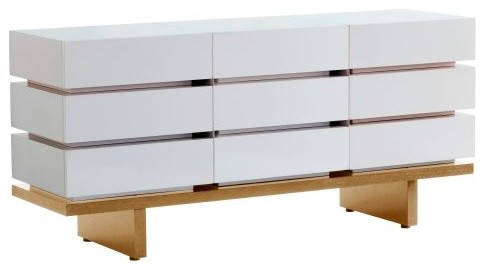 Nurseryworks Three Wide Dresser - All Drawers/Light contemporary-dressers