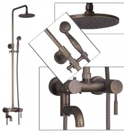 JollyHome Brass Vintage Bathroom Faucets Wall Mounted
