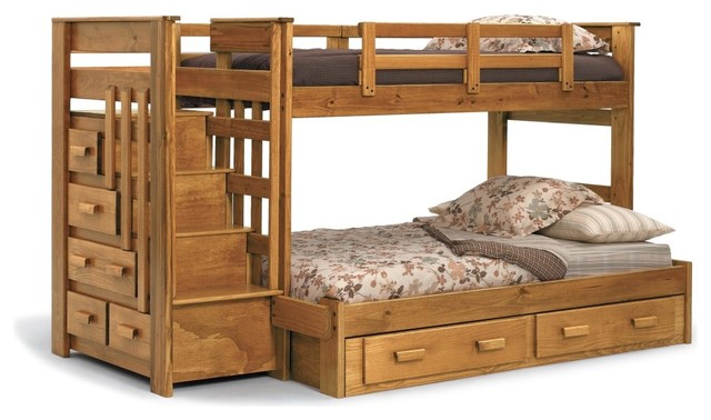 Heartland Twin over Full Bunk Bed with Stairs - modern - beds - by ...