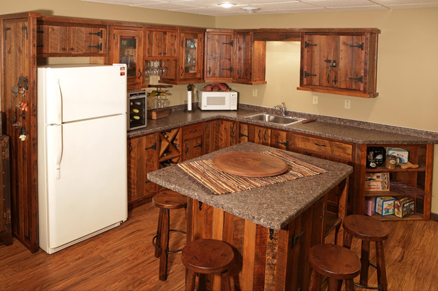 Barnwood Kitchen Cabinets & Bars