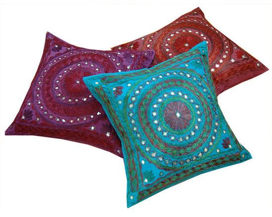 Mirrorwork Indian Cushion Covers -
