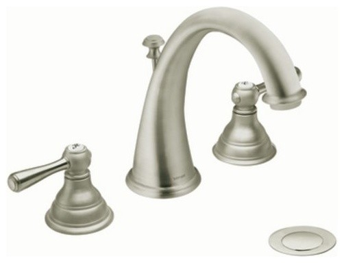 Moen T6125BN Brushed Nickel Kingsley Double Handle Widespread Bathroom contemporary-bathroom-faucets-and-showerheads