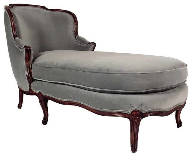 French chaise lounge traditional indoor chaise lounge for Antique chaise lounge furniture