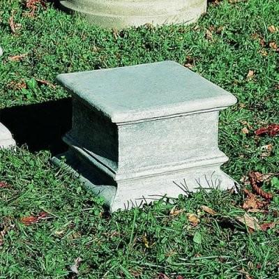 Campania International Plain Quadro Cast Stone Pedestal For Urns and Statues modern-garden-sculptures