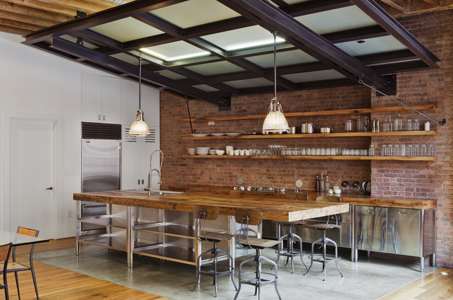 Jane Kim Design - industrial - NW 13th Avenue Loft - business - The Natural Kitchen: Oliver Simon Design Loft Project - industrial - kitchen Design Wooden Style, modern-day Concept with the aid of Scavolini - portland - through Jessica - by Jane Kim Design - Industrial Kitchen Design