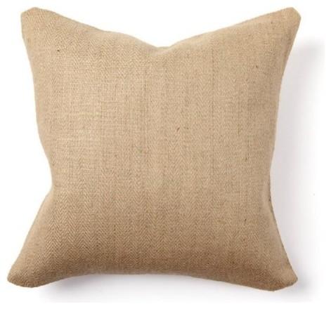 Villa Home Collection Herringbone Natural Decorative Pillows contemporary-decorative-pillows