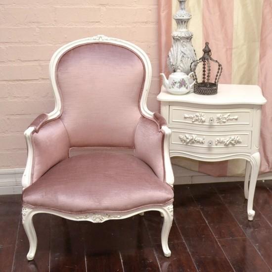 Curvy Sweet Rose Plum Velvet Armchair mediterranean-accent-chairs