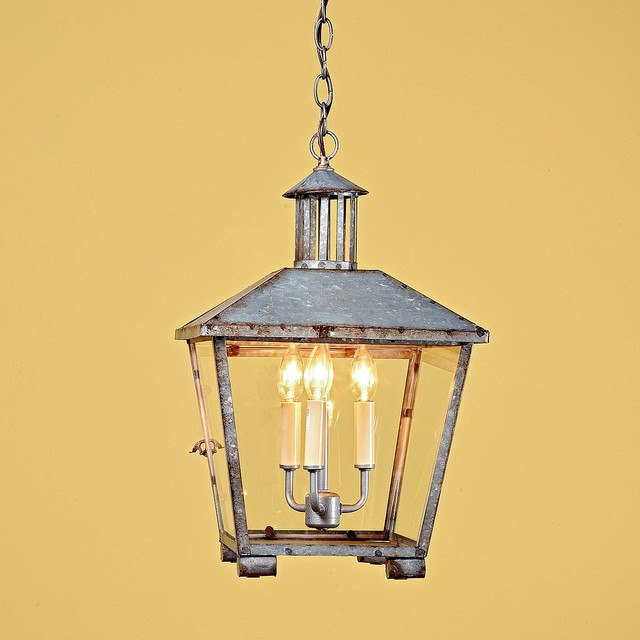 Rustic Galvanized Lantern Outdoor Hanging Lights by