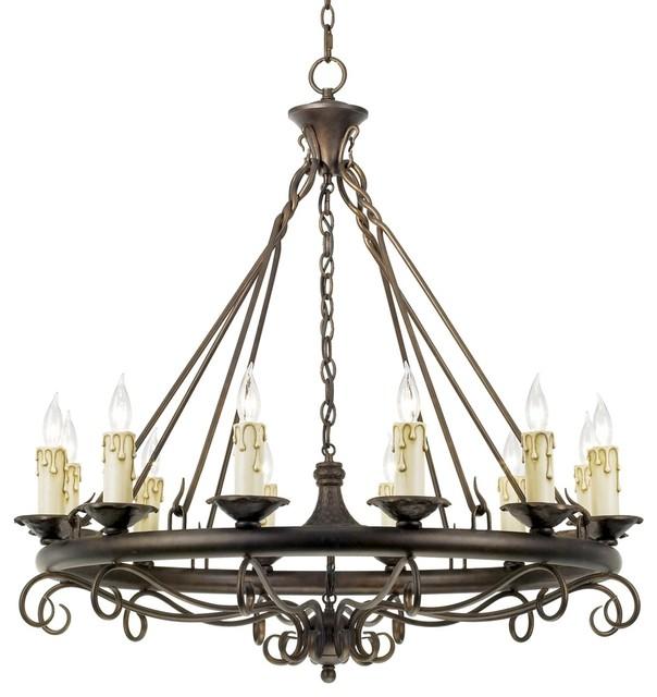 rodeo collection round twelve light chandelier