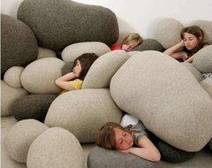 Livingstones Pebble Pillows, 6 Pieces eclectic-pillows