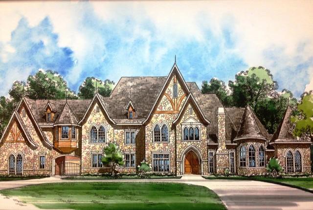 Tudor - Southlake, Texas mediterranean-rendering