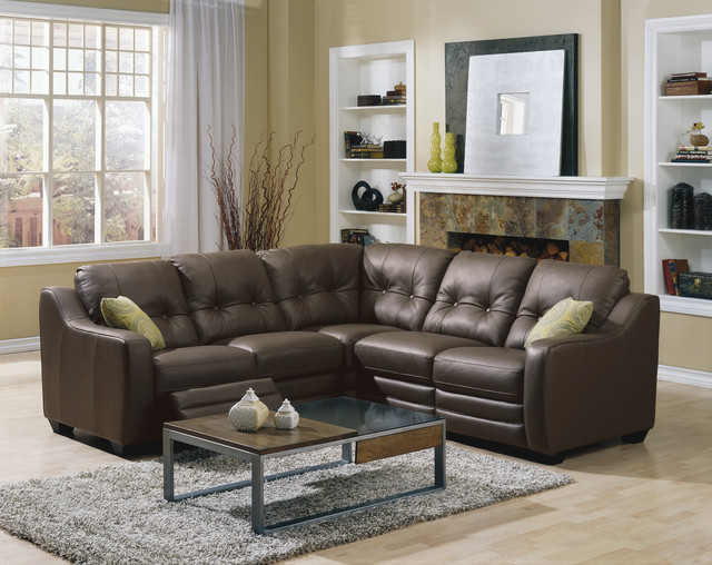 Reclining motion furniture traditional sectional for Small square sofa