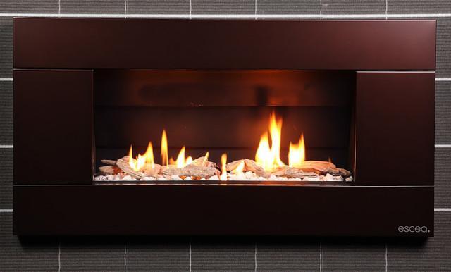 escea indoor gas florentine bronze fireplace ferro front