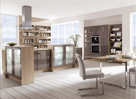 ... lacquer Kitchen Cabinetry with wood accents modern-kitchen-cabinets
