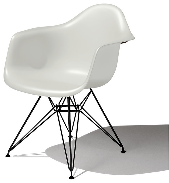 Eames Molded Plastic Armchair, Eiffel Base modern-armchairs-and-accent-chairs