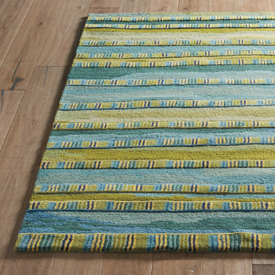 Hannah Stripe Indoor Rug Grandin Road Traditional