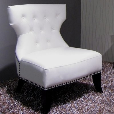 Bentley White Leather Club Chair modern-armchairs-and-accent-chairs
