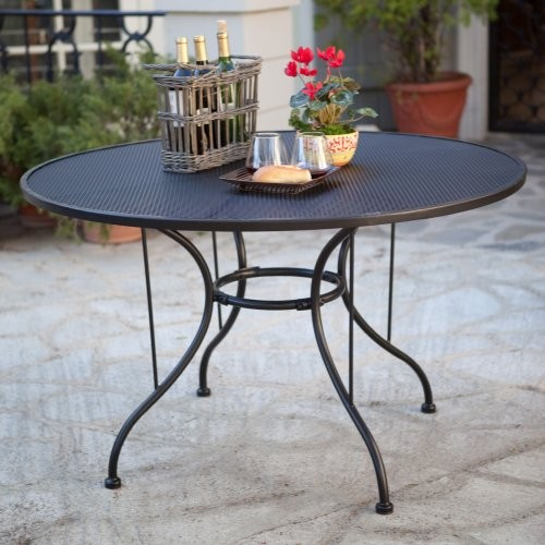 Wrought Iron Outdoor Dining Table Contemporary Outdoor Dining