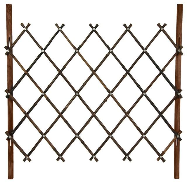 3 Ft Tall Diamond Bamboo Fence Walnut Traditional