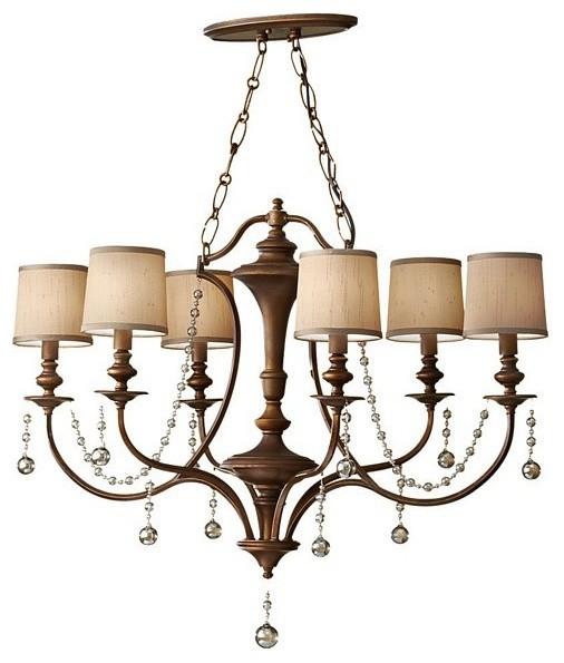 6 Bulb Firenze Gold Chandelier contemporary-chandeliers
