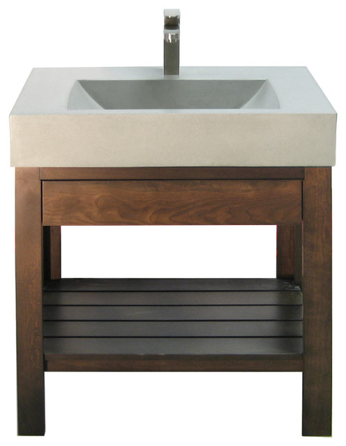 Cement Bathroom Sink : Concrete Sink - Trueform Concrete - Bathroom Sinks - new york - by ...