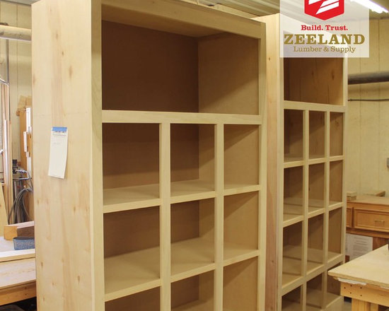 Zeeland Lumber and Supply Custome Woodshop - This wooden shelving unit was a custom built project for a client in Zeeland, MI.