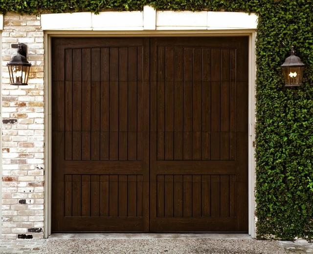Scenic-Western Red Cedar mediterranean-garage-doors-and-openers