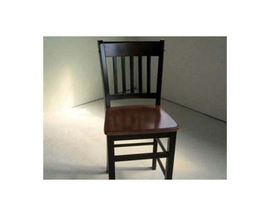 Black Mission Style Chair - Made by http://www.ecustomfinishes.com