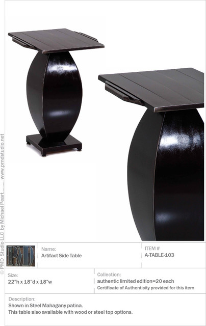 Artefact Table modern side tables and accent tables