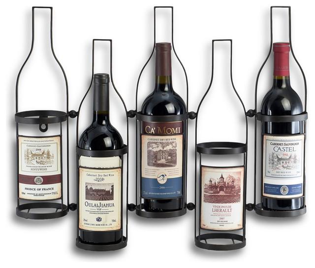 5 Bottle Wall Wine Holder contemporary-wine-racks