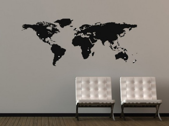 Graphics World Map Wall Stickers modern-wall-decals