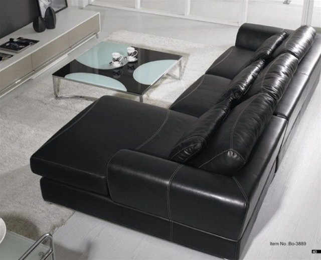 High Class Furniture Italian Leather Upholstery Modern Sectional Sofas Miami By Prime