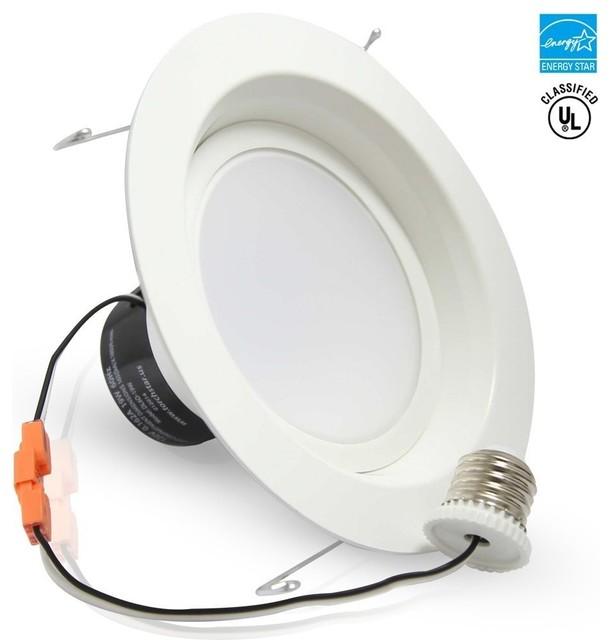 "19W 6"" Dimmable LED Recessed LED Ceiling Light, Daylight - Modern - Flush-mount Ceiling Lighting ..."
