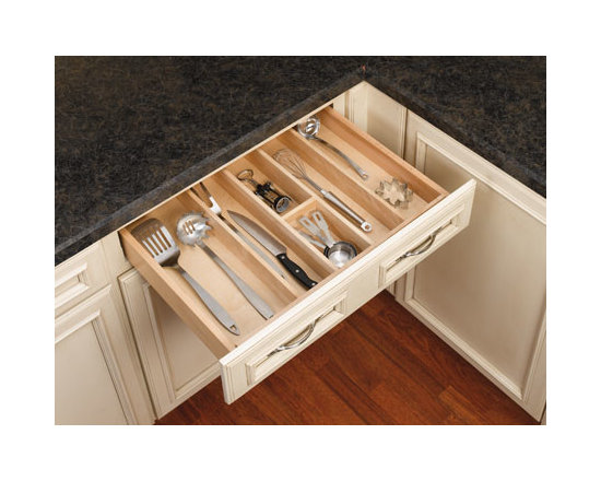 Cabinet Accessories - Utensil Tray solid maple trim able