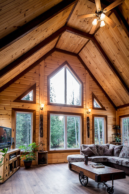 Log Home Interiors Traditional Charlotte By Timber