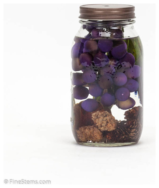 Purple Grapes Mason Jar traditional-candles-and-candleholders