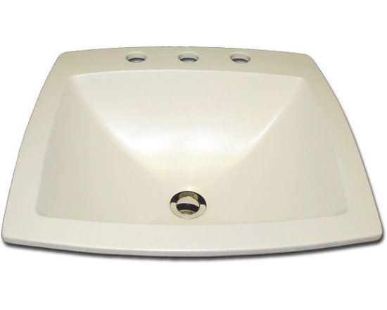 Rectangle with Faucet Holes - KB-83-100